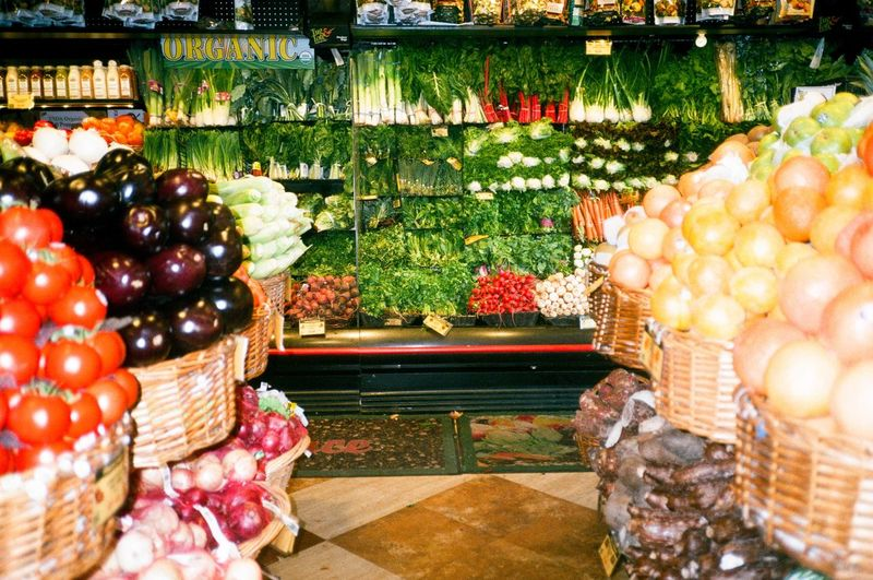 Fruits in basket at store