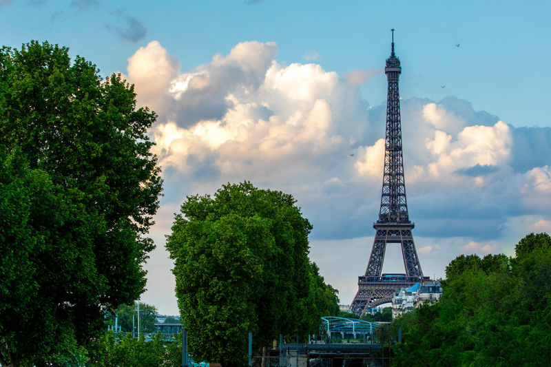 Eiffel Tower France Normandie Oroszphotography Paris Paris, France  Sky Sky And Clouds