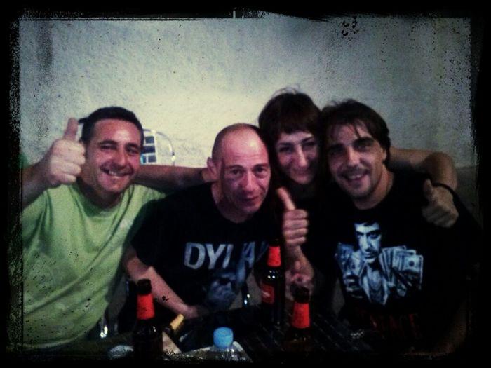 con el bosnio, fer y @osanelibre