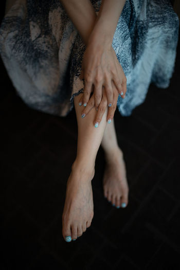 AWOI barefoot Beautiful Woman Body Part Hand High Angle View Human Body Part Human Foot Human Hand Human Leg Human Limb Nail Nail Polish Sitting Women The Fashion Photographer - 2018 EyeEm Awards