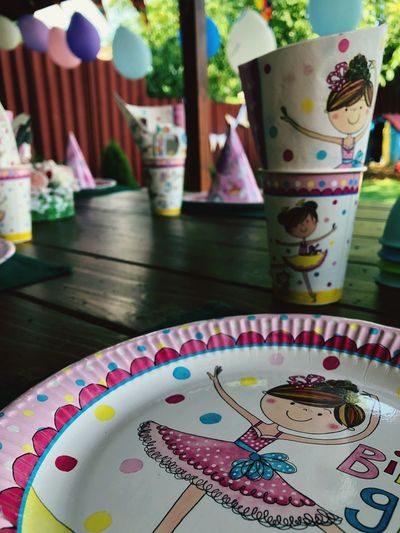 Enjoing Life Girl Power Hello World So Cute Little Girl Little Party Party Table Indoors  Creativity Food And Drink Pattern Day Sweet Food Decoration