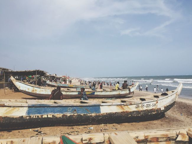 Local Accra beach Hanging Out