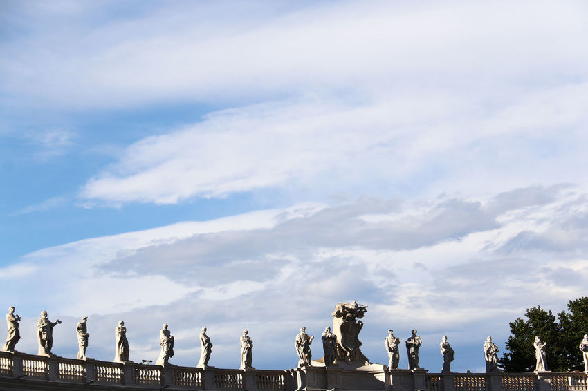 Blue Sky Christian Christianity Cloud Cloud - Sky Holy Place Italy Pope Rome Sculpture Sky Statue Statue Travel Destinations Vatican VaticanCity White Clouds