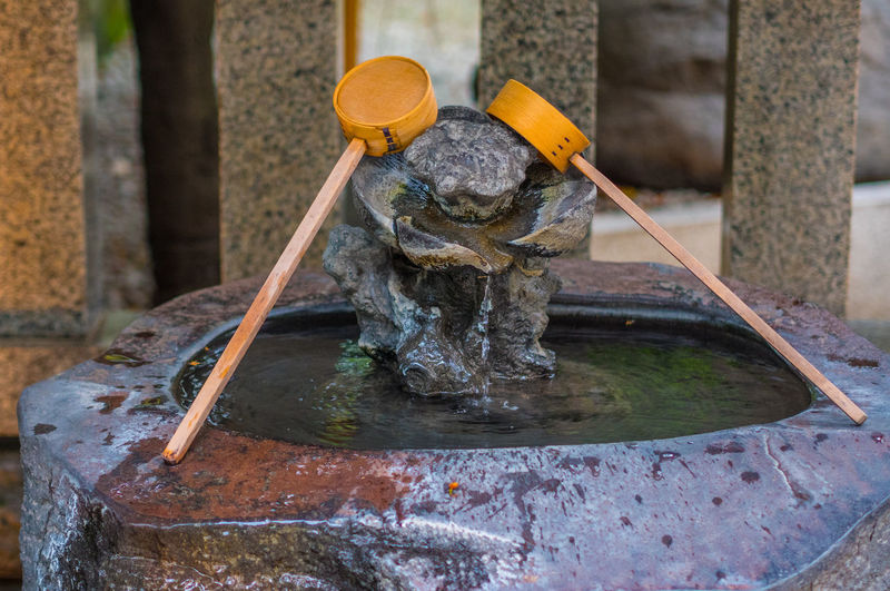 Water fountain in temple