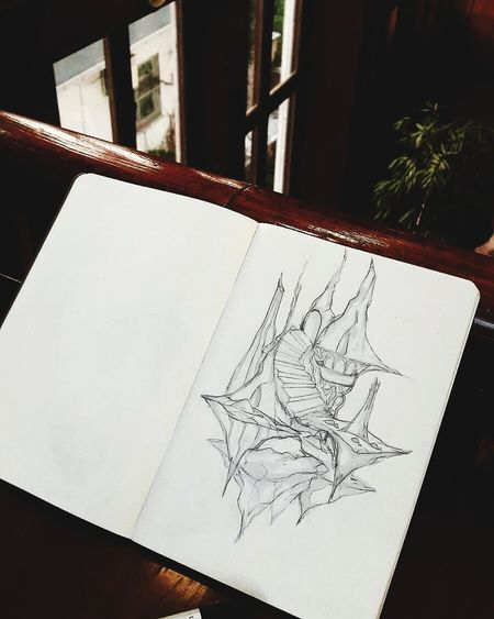 Illustration SkecthArt Art Drawing Sketchbook Sketch Paper Drawing - Activity Communication Sketch Pad Architecture No People Close-up Indoors  Day Ink