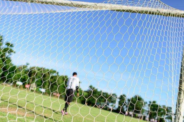 Full frame shot of sports net