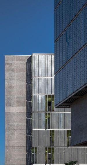 Modern Office Building Against Clear Sky
