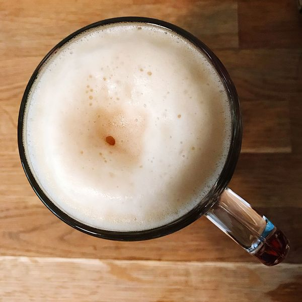 Beer in glass Drink Refreshment No People Beer Time Beer Beertime Top View Topview Alcoholic Drink Foamy Foam