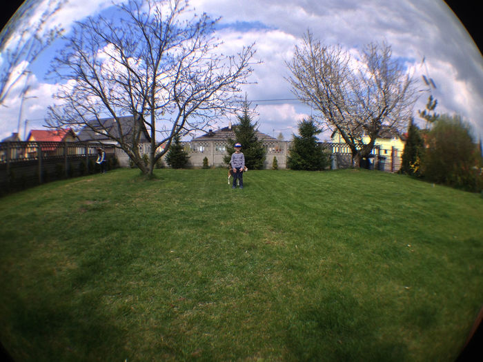 Fisheye Grass Nature One Person Outdoors Sky