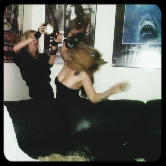 That's Me Horse Head Too Much FUN Champagne Showers