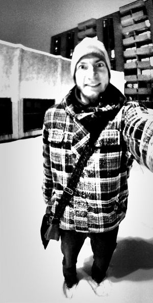 me at snowstorm Me Blackandwhite Panorama Don't Be Square