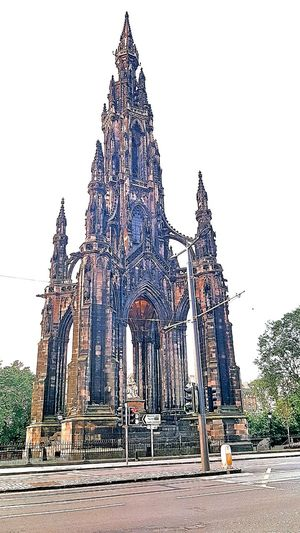 Architecture Low Angle View Built Structure Outdoors Tall - High Tall History Tourism Scots Monument Edinburgh Scotland