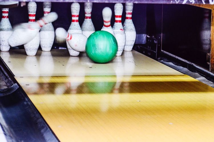 Strike hit | Bowling Bowl Moments Happy Excellent Game Green Nikon Nikonphotography Strike!