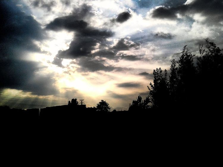 Sunset Sky Silhouette Nature Cloud - Sky Beauty In Nature Tree Scenics No People Outdoors Dramatic Sky Day