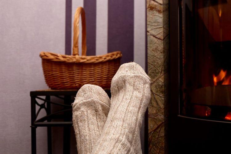 Close-up of human foot