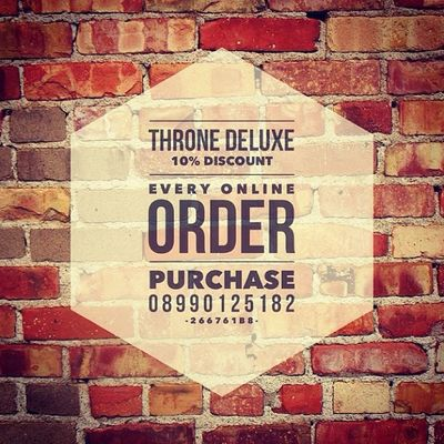 GET 10% DISC EVERY PURCHASING THRONE ONLINE ORDER. +62 8990 125182 / 266761B8 ! @WordSwag