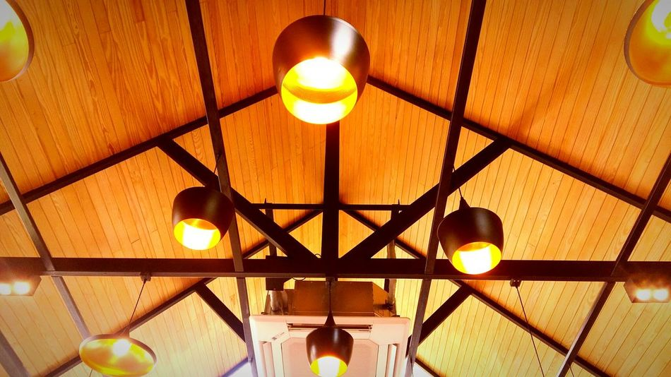 Fire🔥🔥🔥 Coffee Shop Thailand Illuminated Hanging Electricity  Light Bulb Lighting Equipment Close-up Architecture Built Structure Chandelier Hanging Light Light