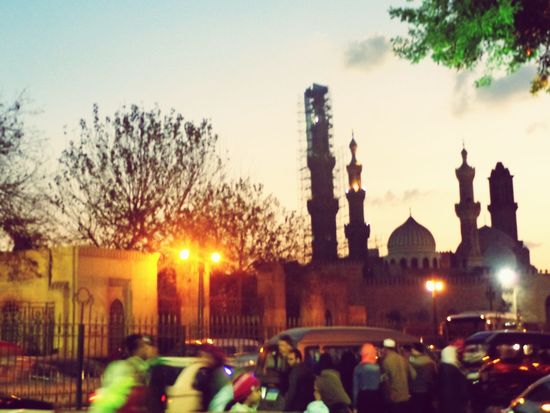 Tree Travel Destinations City Sunset Architecture Large Group Of People Sky Cultures Outdoors Historical Place A Night Out.. Old Friends❤ Hanging Out With Friends Egypt Cairo Arts Culture And Entertainment Full Frame