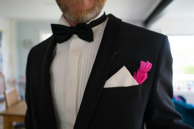 Well Turned Out Brother Of The Groom Tuxedo Smoking Feather  Beard Bow Tie Easter Påsk