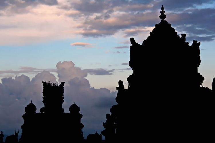 Shri Lanka Shrilankian Temple Mountain Temple Landscape Sky Sky Temple Temple Silhouette Temple Silhouette Nuwara Eliya Clouds Clouds And Sky