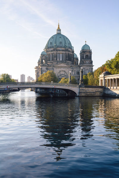berlin cathedral at sunrise Architecture Architecture Berlin Berlin Cathedral Berliner Dom Built Structure City Cityscape Daytime Dome Germany Government History Human Eye International Landmark New Day Outdoors Politics And Government Religion Sightseeing Spree River Berlin Sunrise Travel Travel Destinations Water
