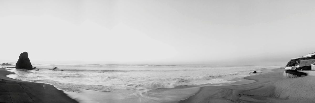 Sea Panoramic Photography My View From Work  Monochrome