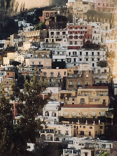 Clinging to the cliff Steep Cliff Coloured Buildings Cityscape Building Exterior City House Community Architecture