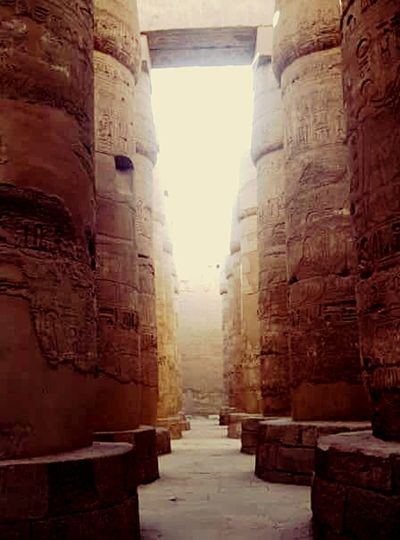 Karnak Tempel Architecture Built Structure History Building Exterior Stone Material Outdoors Walkway Firstphotographyexperience Firstcamera Travel Destinations Vacations Travel Eyeem Photography Fresh On Eyeem