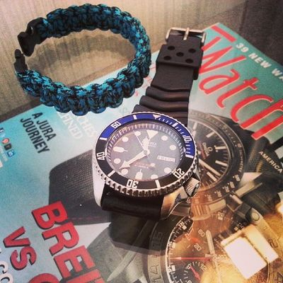 Time to check out! Cosmopolitan hotel, you've been awesome! HongKong Seiko Diver Skx009j paracord weneededthis samsulsabroad
