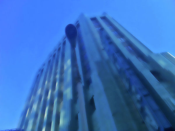 Architecture Blue Building Built Structure City Déco Historical Landmark Low Angle View Tall - High Wiltern Theatre Los Angeles