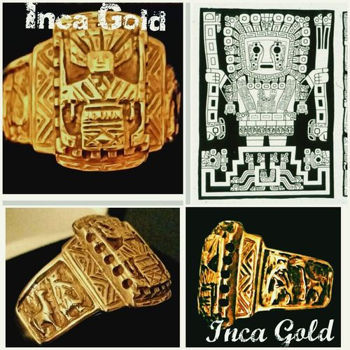 This is the ONLY known Inca Golden ring that the Spaniards didn't melt down.The original was found in a sunken ship. Mine is a copy, of course, but take a good look. Have you ever seen another small gold jewelry from the Inca's? Art History Incas Finding Treasure National Treasure. Prove me wrong. I'd love to see more pieces that survived. Poetic Justice ❤