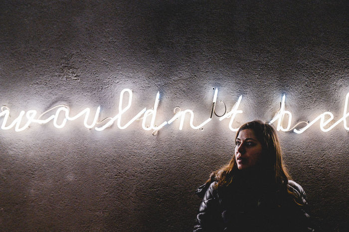 Adult Adult Adults Only Believe Communication Future Girl Girlfrend Neon Neon Lights Neon Sign Night People Port Portrait Portrait Of A Woman Uniqueness Unni Vision Woman Portrait Women Would Wouldn't Believe Women Around The World The Street Photographer - 2017 EyeEm Awards The Portraitist - 2017 EyeEm Awards