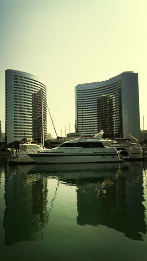 Picking up Wi-Fi from this yacht. ; ) Yacht Boat Richpeople Water Reflections