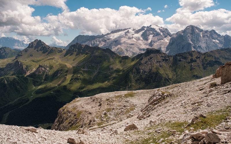 Marmolada view from sass pordoi - alto adige sudtirol - italy