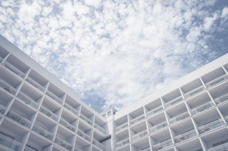 White building against sky