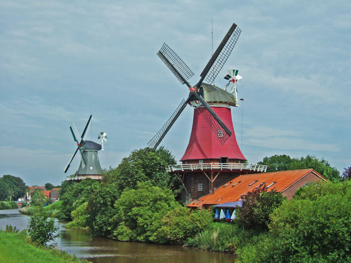 Greetsieler Twin mills Cloud Cloud - Sky Fuel And Power Generation Greetsiel Greetsiel, Germany Landscape Landscape_Collection Landscape_photography Mills Nature Non-urban Scene North Sea Outdoors Rural Scene Sky Traditional Windmill Wind Power Wind Turbine Windmill