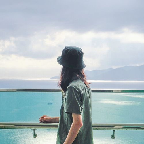 南国再见,南国 Nha Strang Vietnam Self Portrait Water Sea Standing Beauty Portrait Back Beach