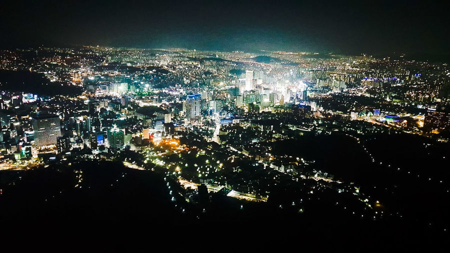 Korea at night Korea Seoul Tower Travel Travel Destinations City View  Nature Nature Photography Water No People