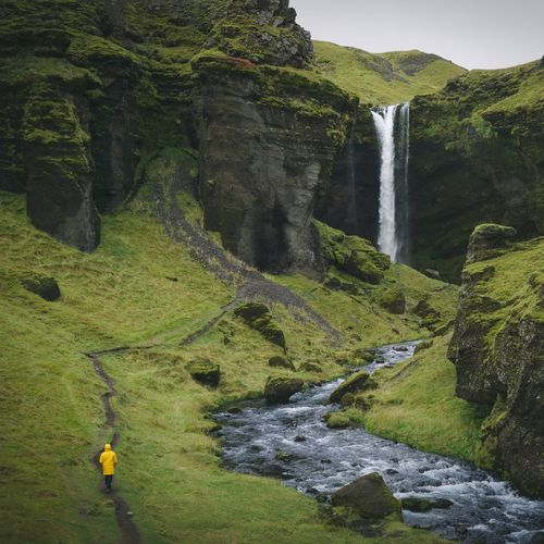 Lost In The Landscape Waterfall Scenics Water Rock - Object Motion Nature Tranquil Scene Outdoors River Beauty In Nature Day No People Mountain Travel Destinations Tree Sky Landscape Nature Iceland