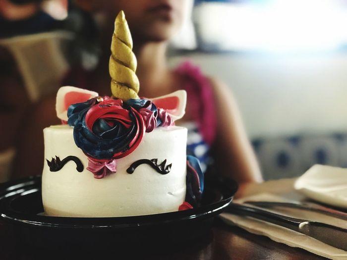 Unıcorn Sweet Food Food And Drink Indoors  Food Dessert Focus On Foreground Table Cake