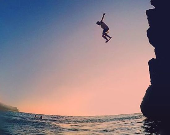 Bearded man droppin' in. ( Myself ) . . . . VSCO Diving CliffJumping Cliff Nofilter Hawaii Hawaiilife Blackrock Maui Mauilife Ocean Whatyouth Silhouette Goprohero4 Gopro Goprooftheday Pacific Me Followme Easy Snorklife Drmdealer