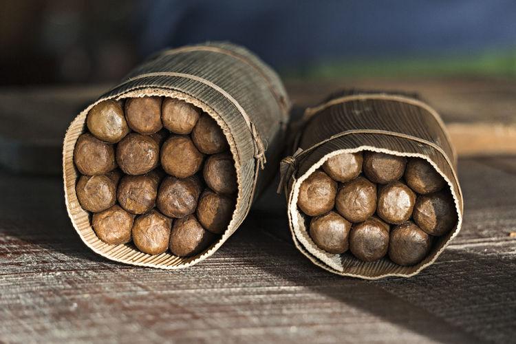 Cuba Viñales Valley, Cuba Cigars Close-up Detail Handcrafted Indoors  No People Still Life Table Wood - Material