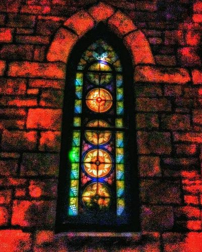 Window at local church...... Last night Ks_pride Atchisonchurches