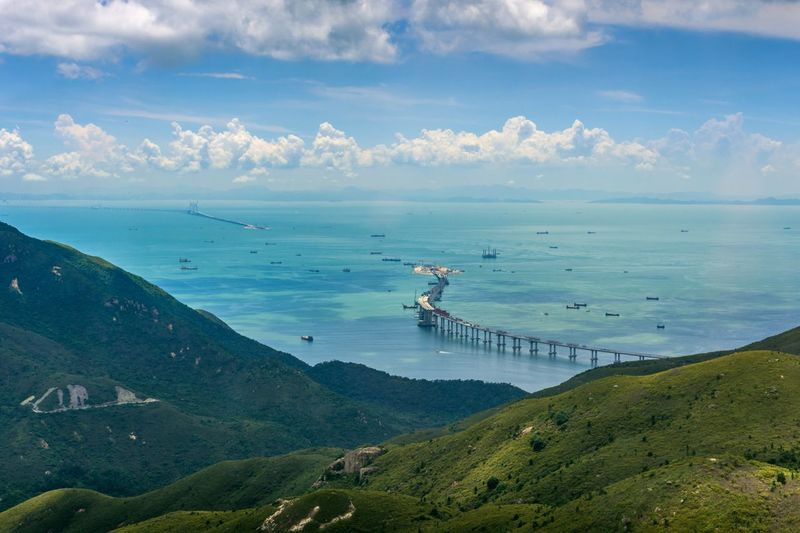 A Bird's Eye View Traveling Landscape_Collection Summer High Angle View Horizon Over Water Scenics Tourism Transportation Sky Cloud - Sky Beauty In Nature Nature Harbor Vacations Sea Water Feel The Journey Landscape Travel Destinations Hong Kong Travel Photography High Exploring Outdoors