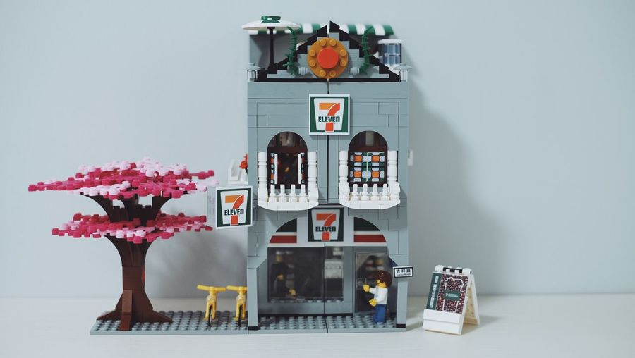 7Eleven  Seveneleven LEGO 711  Decoration Text Wall - Building Feature No People Plant Art And Craft Indoors