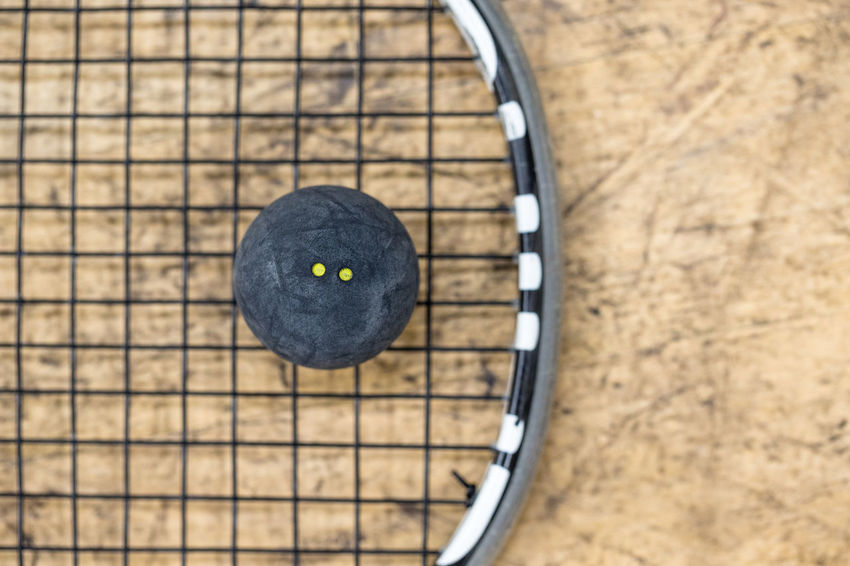 Ball Close-up Ground Having Fun Health Indoors  Movement Racket Racket Sport Rubber Ball Sport Squash Squash - Sport Squash Ball Two Dots