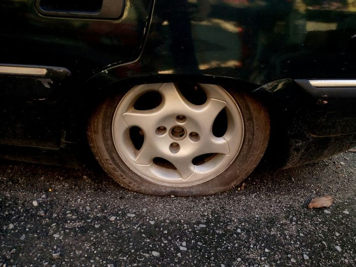 What the flat!! Bad Day Unlucky Flat Tyre Notgood Need Money I'm Poor Help Poor Me Still Life Wet Close-up