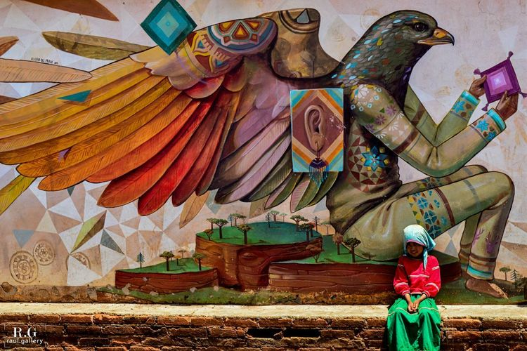 Colors Mexico De Mis Amores Wixárika Art Creativity Huichol Mexico_maravilloso Multi Colored Mural Mural Art One Person