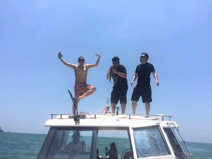 When on a yacht, do something Hanging Out Relaxing Enjoying Life Phuket Thailand