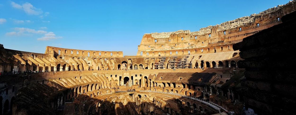 Architecture Built Structure History Travel Destinations Tourism Building Exterior The Past Famous Place Travel Ancient Blue Sky Old Ruin Ancient Civilization International Landmark Day Coliseum Capital Cities  Weathered Outdoors Coluseum Rome Italy🇮🇹 Rome Ancient Colosseum The City Light Live For The Story Moving Around Rome